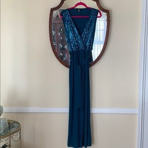 Spense Jumpsuit Size 8 Teal in EUC